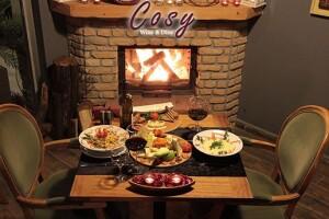Cosy Wine & Dine Restaurant'ta Yerli İçecekli 2 Kişilik Akşam Yemeği