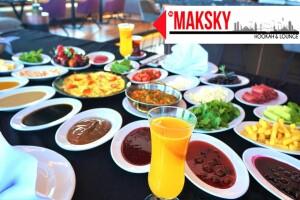 Grand Makel Hotel Maksky Roof'da Muhteşem Serpme Kahvaltı Menüsü