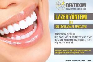 Dentaxim Ağız ve Diş Sağlığı'ndan Diş Temizletme ve Beyazlatma İşlemi