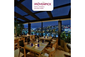 Mövenpick Hotel Golden Horn Skydome'da Haliç Manzaralı Akşam Yemeği